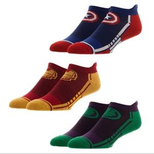 Marvel Avengers Set of 3 Athletic Ankle Socks!
